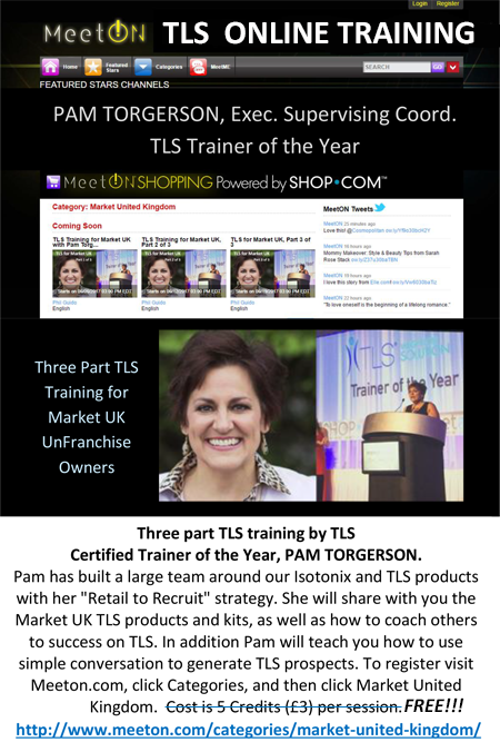 Pam Torgerson TLS training