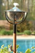 Reno Garden Torch in Hammered Nickel