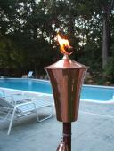 Princeton Garden Torch in Solid Copper