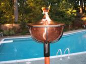 Reno Garden Torch in Solid Copper