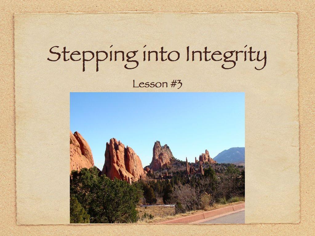Audio & Handout  Lesson #3