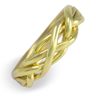4WB Men's 14K Yellow Gold