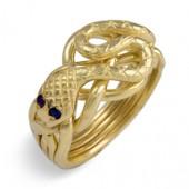 5S Men's 14K Gold w/Sapphires