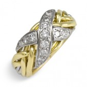 6NX Ladies 18K White & Yellow Gold w/ Diamonds