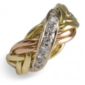 8WB-D Men's 14K Gold w/ Diamonds