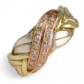 8BWN-WB Ladies 14K Gold w/ Diamonds