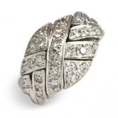 6DO Ladies 14K White Gold  w/ Diamonds
