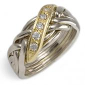 6WBD Men's 14K Yellow Gold w/ Diamonds