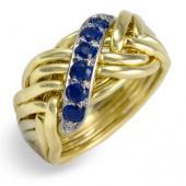 8WB-D Men's 14K Gold w/ Sapphires