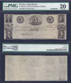 FLORIDA APALACHICOLA $5.00 Commercial Bk PMG 20 Stock# OFL0035