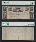 FLORIDA APALACHICOLA $10.00 Commercial Bank PMG 35 Stock # OFL2020C