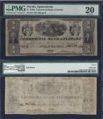 FLORIDA APALACHICOLA $1.00 Commercial Bk PMG 20 Stock # OFL349