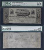 FLORIDA APALACHICOLA $5.00 Commercial Bank PMG 30 Stock # OFL170