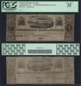 FLORIDA APALACHICOLA $5.00 Commercial Bank PCGS 25 Stock # OFL358