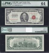 SM Legal US Note. $100.00 1966 PMG 64 Stock # S1138C