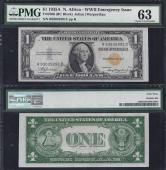 SM NORTH AFRICA $1.00 R-C Block 1935A PMG 63 Stock # S460