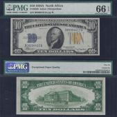 SM NORTH AFRICA $10.00 B-A Block 1934A PMG 66 Stock # S462PY