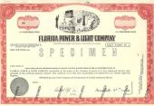 FL O SPEC STOCK FLORIDA POWER &amp; LIGHT Stk FLO-59