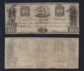 FLORIDA APALACHICOLA $10.00, Commercial Bank, Fine Plus, Stock # OFL2191C
