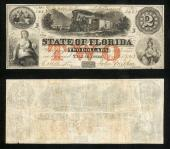 FLORIDA STATE $2.00 1863 Stock # FL452