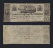 FLORIDA APALACHICOLA $5.00 Commercial Bank VF Stock # OFL2017C