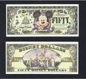 "Disney $50.00, 2005 ""A"" Large Head GEM, Stock # D136"