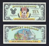 "Disney $10.00, 1991 ""D"" UNCIRCULATED, Stock # D132"