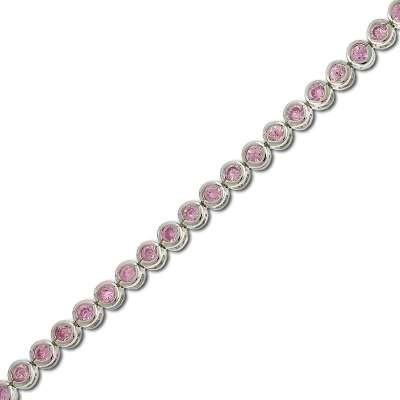 Pink CZ Tennis Bracelet