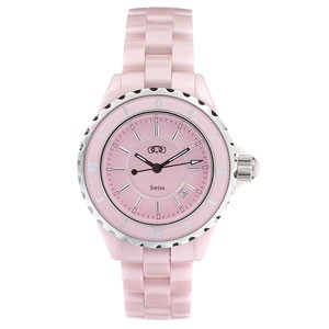 Pink Ceramic Couture Watch