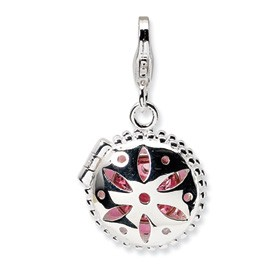 Sterling Silver Compact Charm