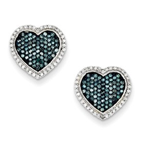 Blue and White Diamond Earring