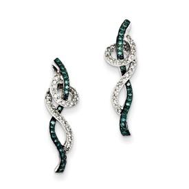 Blue and White Diamond Earring