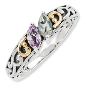 Sterling Silver Marquise Shaped Mothers Ring