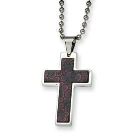 Stainless Steel Stingray Pattern Cross