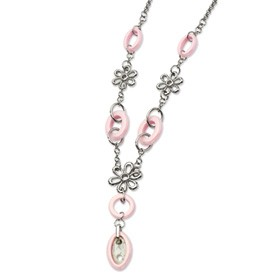 Stainless Steel and Ceramic Necklace