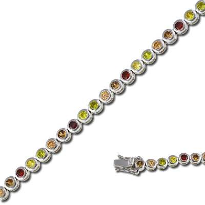 Multi-Color Tennis Bracelet