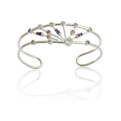 Multi-Color CZ Cuff Bracelet