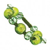 Green Crystal Murano Glass Bracelet