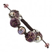 Purple Murano Glass Bracelet