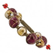 Dark Red Murano Glass Bracelet