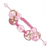 Pink Crystal Murano Glass Bracelet