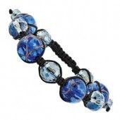 Blue Crystal Murano Glass Bracelet