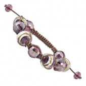 Purple Crystal Murano Glass Bracelet
