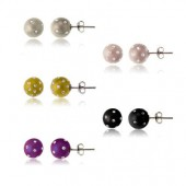 5 Pair of Crystal Studded Earrings
