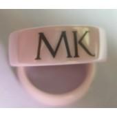 Pink Ceramic MK ring