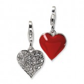 Red Enameled Heart