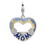 Sterling Silver Enameled Mom Photo Frame