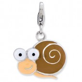 Sterling Silver Snail Charm