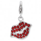 Sterling Silver Lips Charm