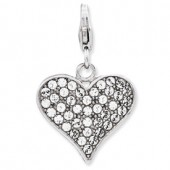 Sterling Silver 3-D Heart